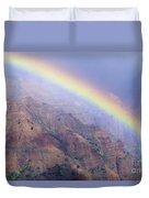 Waimea Canyon Rainbow Duvet Cover