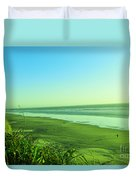 Walking The Beach Duvet Cover