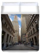 Wall Street Duvet Cover
