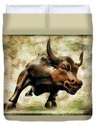 Wall Street Bull Vii Duvet Cover