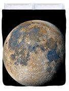 Waning Gibbous Moon / Day 18 Duvet Cover