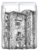 Wash Day In Montalcino Italy Duvet Cover