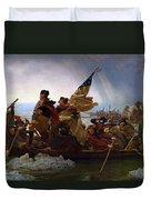 Washington Crossing The Delaware Duvet Cover by Emanuel Leutze