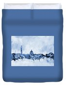 Washington Skyline-blue Duvet Cover