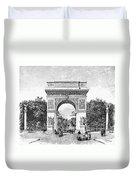 Washington Square Arch Duvet Cover