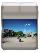 Wat Damnak Roundabout In Central Siem Reap City Cambodia Duvet Cover