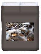 Water On The Rocks Duvet Cover