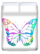 Watercolor Butterfly Duvet Cover