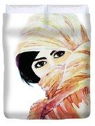 Watercolor Muslim Women Duvet Cover
