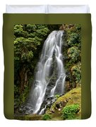 Waterfall At Azores Duvet Cover