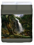 Waterfall At Mont-dore Duvet Cover