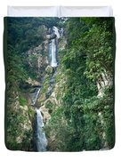 Waterfall Highlands Of Guatemala 1 Duvet Cover