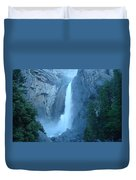 Waterfall In The Mountains Duvet Cover