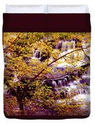 Waterfalls And Fall Colors Duvet Cover