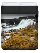 Waterfalls Of Iceland Duvet Cover