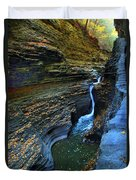 Watkins Glen Gorge Duvet Cover
