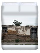 Weathered Window And Door Duvet Cover