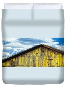 Weathered Wooden Barn, Gaviota, Santa Duvet Cover