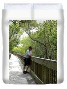 Weedon Island Boardwalk  Duvet Cover