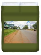 Welcome Sign To Lilongwe In Malawi. Duvet Cover