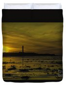 West Beach Sunset Duvet Cover