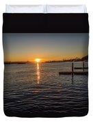 West Seattle Sunrise Duvet Cover