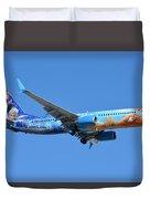Westjet Boeing 737-8ct C-gwsv Frozen Phoenix Sky Harbor January 29 2016 Duvet Cover