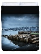 Wharf In Norris Point, Newfoundland Duvet Cover
