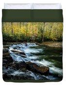 Whitaker Falls In Autumn Duvet Cover