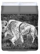 White Buffalo Duvet Cover