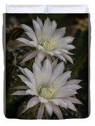 White Echinopsis Duvet Cover
