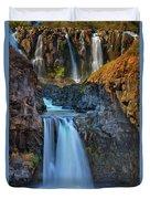 White River Falls State Park Duvet Cover