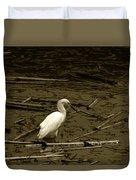 White Snowy Egret Duvet Cover