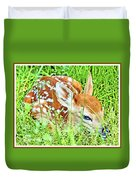 White-tailed. Virginia Deer Fawn Duvet Cover
