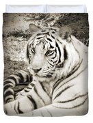 White Tiger Duvet Cover