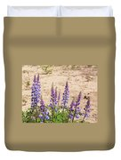 Wild Lupine Flowers Duvet Cover
