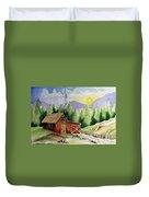 Wilderness Cabin Duvet Cover