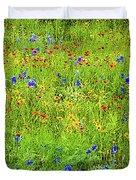 Wildflowers In Bloom Duvet Cover