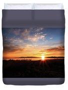 Willard Bay Sunset Duvet Cover