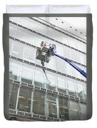 Window Cleaning Duvet Cover