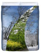 Winter And Summer Duvet Cover
