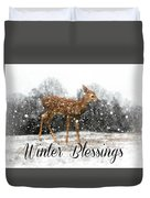 Winter Blessings Duvet Cover