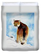 Winter Cougar Duvet Cover