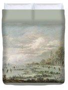 Winter Landscape Duvet Cover by Aert van der Neer