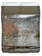 Winter Landscape At Hungry Mother State Park Duvet Cover
