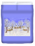 Winter Landscape, Painting Duvet Cover