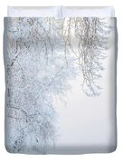 Winter Landscape With Snow-covered Trees Duvet Cover