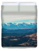 Winter Sangre De Cristo Mountains Duvet Cover