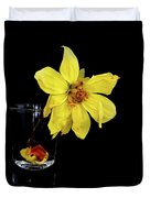 Withered Lifeless Dahlia Flower Duvet Cover