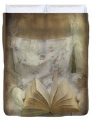 Woman With A Book Duvet Cover by Joana Kruse